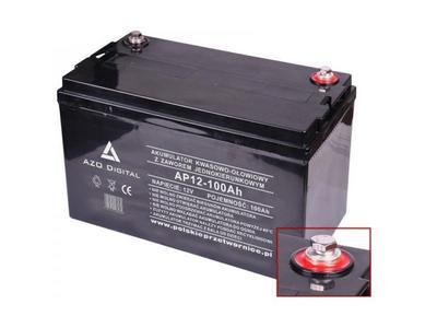 Akumulator VRLA AGM bezobsługowy AP12-100 12V 100Ah Bezobsługowy akumulator wykonany w technologii VRLA AGM do pracy w systemie buforowego zasilania.