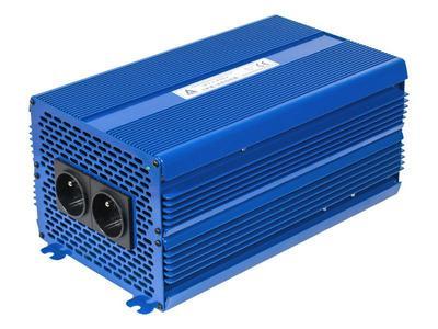 Przetwornica napięcia 12 VDC / 230 VAC ECO MODE  SINUS IPS-4000S 4000W Przetwornica 12/230V o czystym przebiegu SINUSOIDY Funkcja ECO MODE - pobór prądu w trybie czuwania 0.5A, automatyczna detekcja podłączenia odbiorników o mocy większej niż 1W
