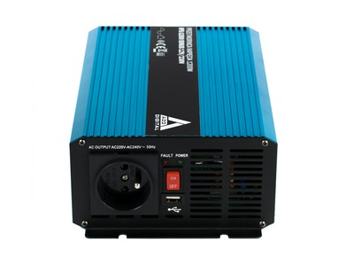 Przetwornica napięcia 12 VDC / 230 VAC SINUS IPS-1200S 1200W Samochodowa przetwornica napięcie 12VDC / 230VAC CZYSTY SINUS Moc 1200W
