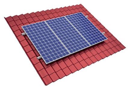 System montażowy do paneli PV typ pokrycia - blachodachówka System montażowy paneli PV do dachów skośnych