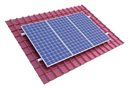 System montażowy do paneli PV typ pokrycia - dachówka ceramiczna System montażowy paneli PV do dachów skośnych